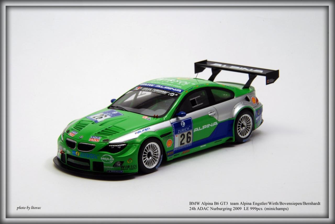 1:43 Minichamps BMW ALPINA B6 GT3 ENGSTLER//WIRTH//BOVENSIEPEN//BERNHARDT 24H 2009